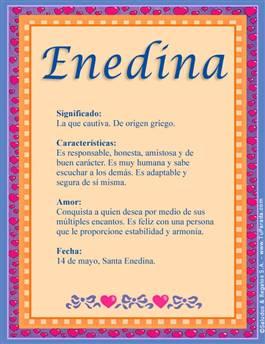 Nombre Enedina