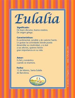 Nombre Eulalia