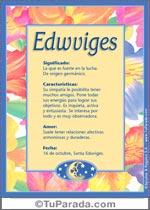 Nombre Edwviges