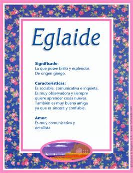 Nombre Eglaide
