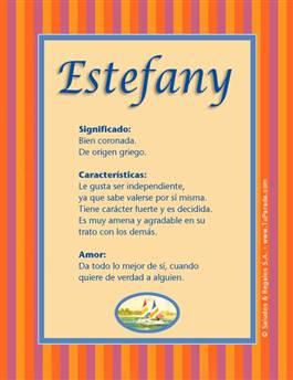 Nombre Estefany