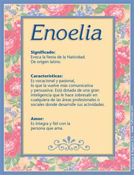 Nombre Enoelia