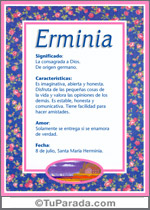 Nombre Erminia