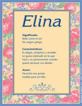 Nombre Elina