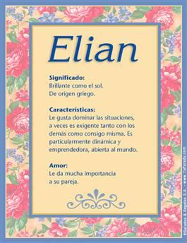 Nombre Elian