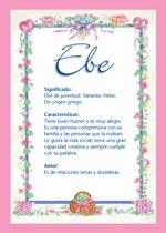 Nombre Ebe