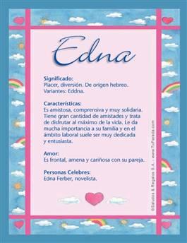 Nombre Edna