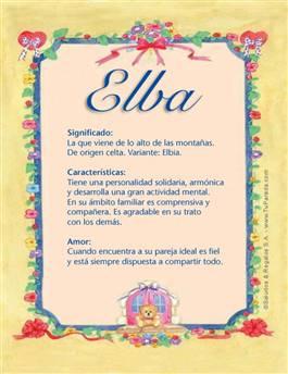 Nombre Elba
