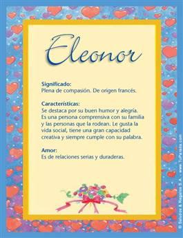 Nombre Eleonor