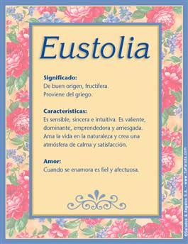 Nombre Eustolia