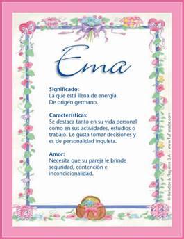 Nombre Ema