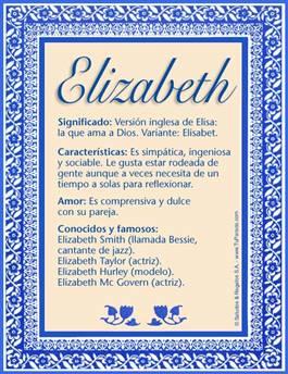 Nombre Elizabeth