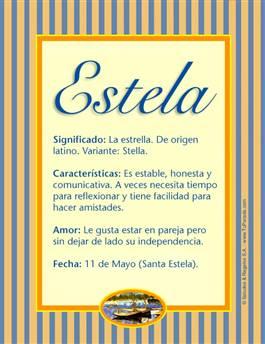 Nombre Estela