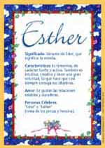 Nombre Esther