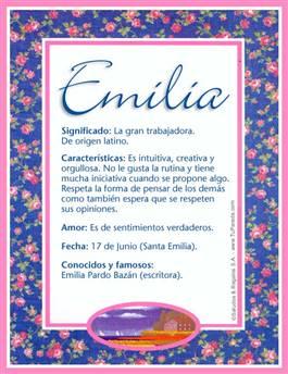 Nombre Emilia