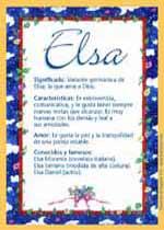 Nombre Elsa