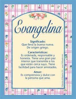 Nombre Evangelina