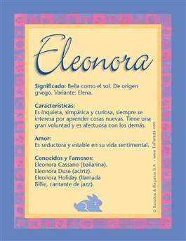 Nombre Eleonora