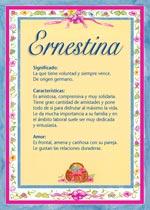 Nombre Ernestina