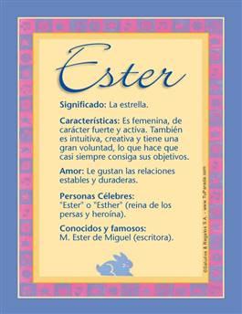 Nombre Ester