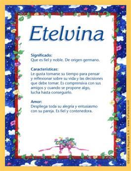 Nombre Etelvina