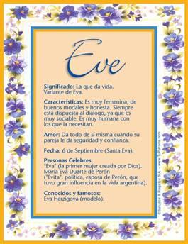 Nombre Eve