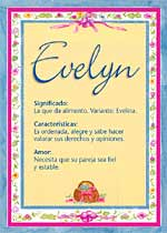 Nombre Evelyn