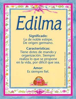 Nombre Edilma