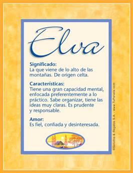 Nombre Elva