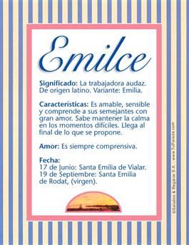 Nombre Emilce