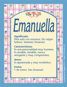 Nombre Emanuella