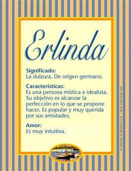 Nombre Erlinda