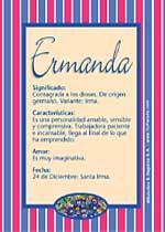 Nombre Ermanda