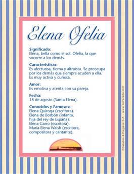 Nombre Elena Ofelia