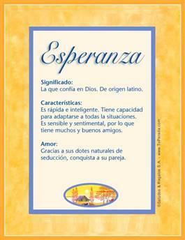 Nombre Esperanza