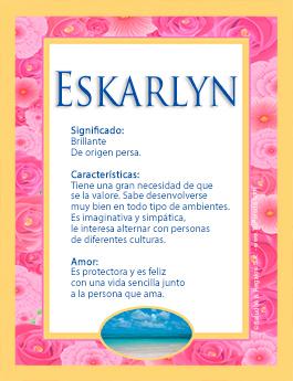 Nombre Eskarlyn