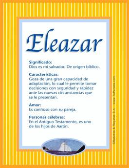 Nombre Eleazar