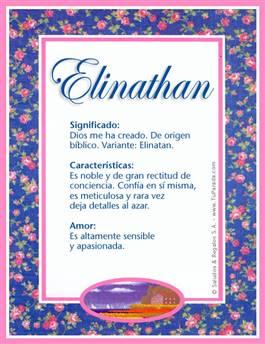 Nombre Elinathan