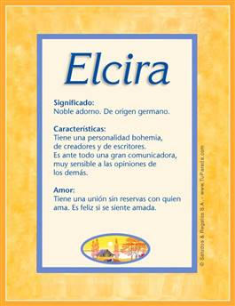 Nombre Elcira