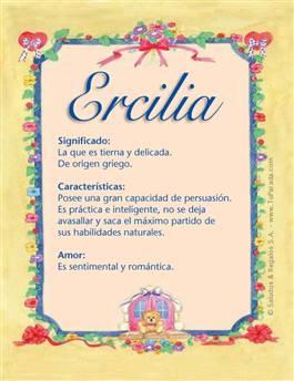 Nombre Ercilia