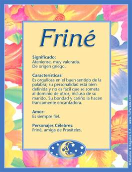 Nombre Friné