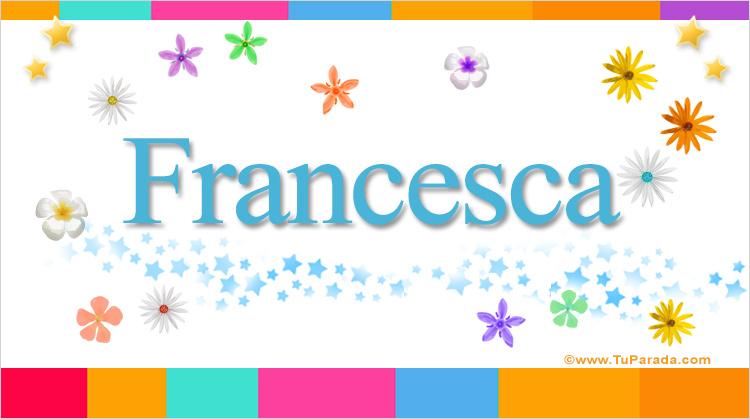 Francesca, imagen de Francesca