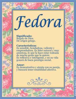 Nombre Fedora
