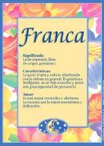 Nombre Franca