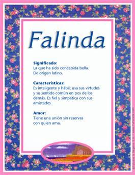 Nombre Falinda