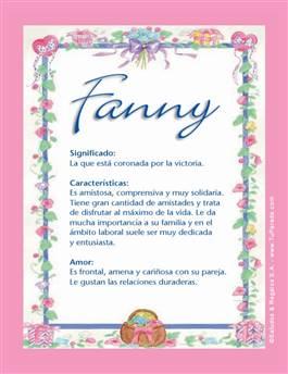 Nombre Fanny
