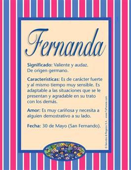 Nombre Fernanda