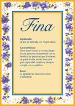 Nombre Fina