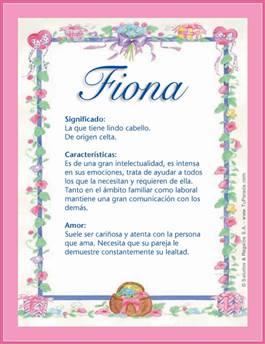 Nombre Fiona