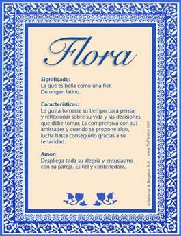 Nombre Flora